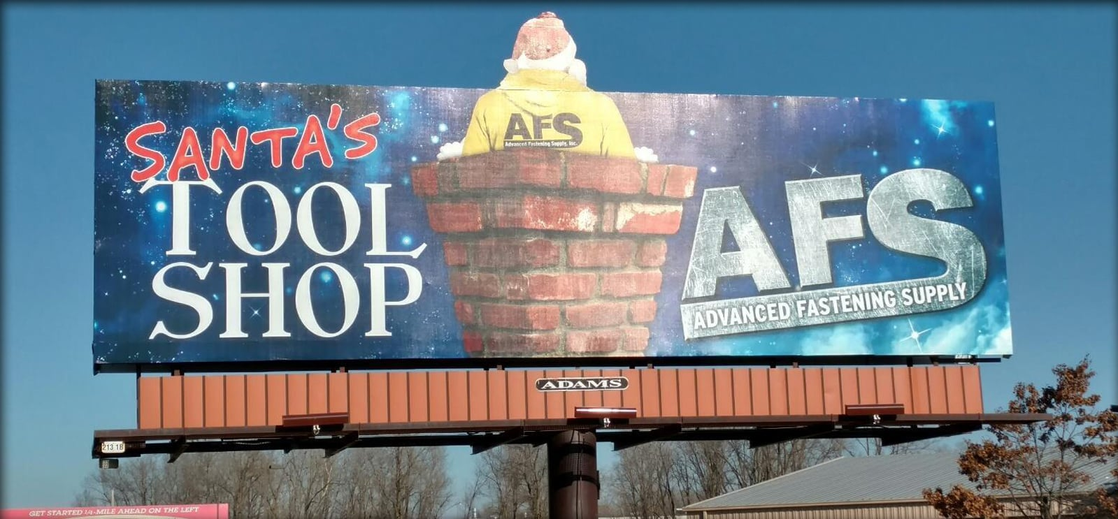 Advanced Fastening Supply Santa Billboard