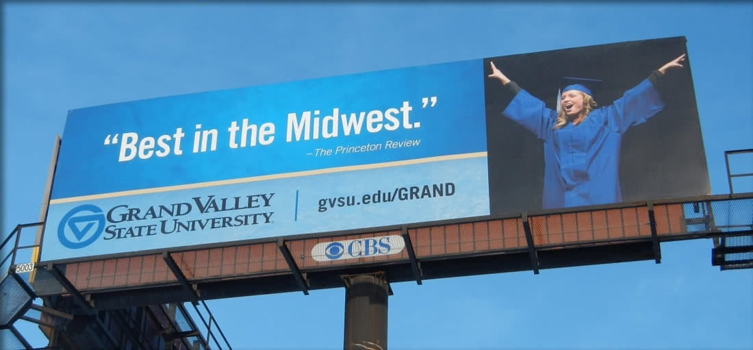 Grand Valley State University Billboard