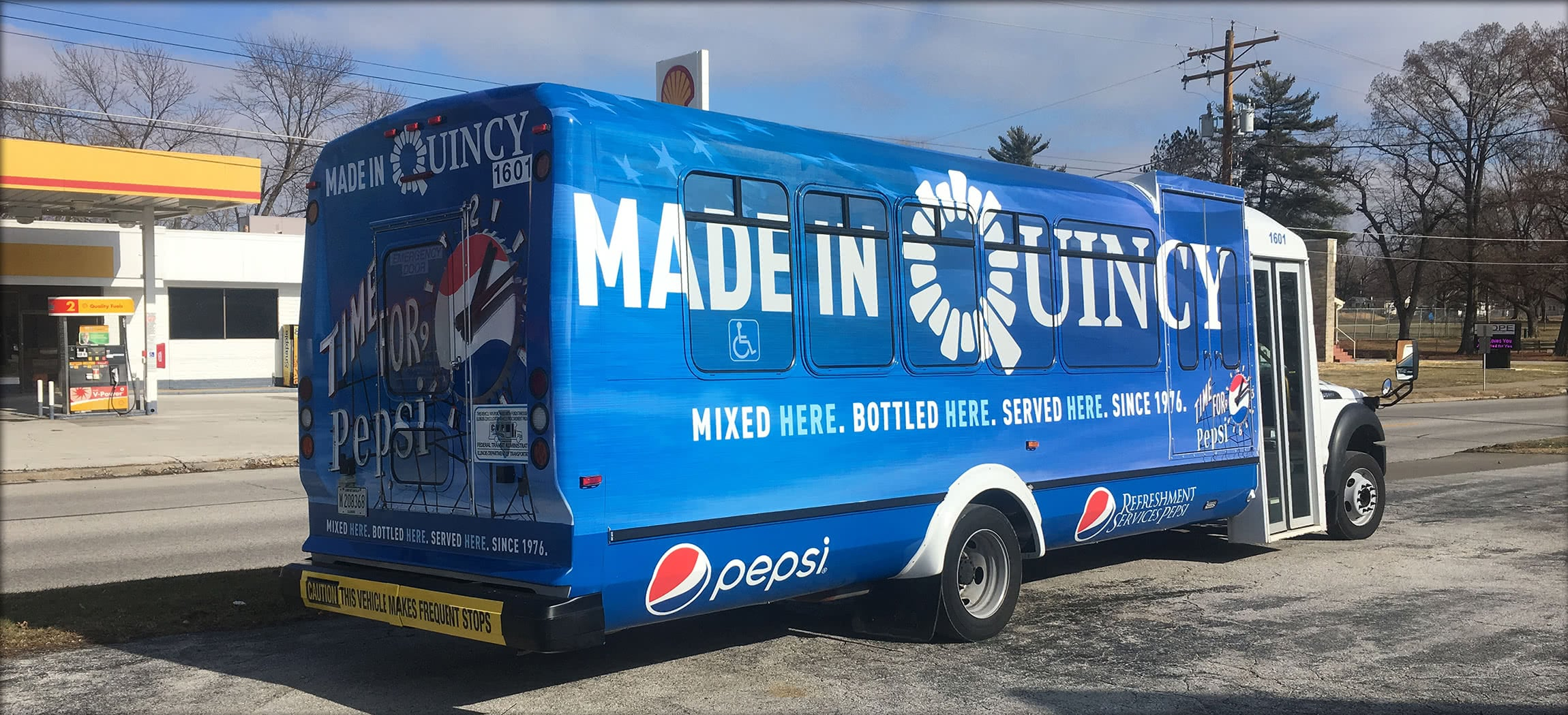 Pepsi Made in Quincy Bus Wrap