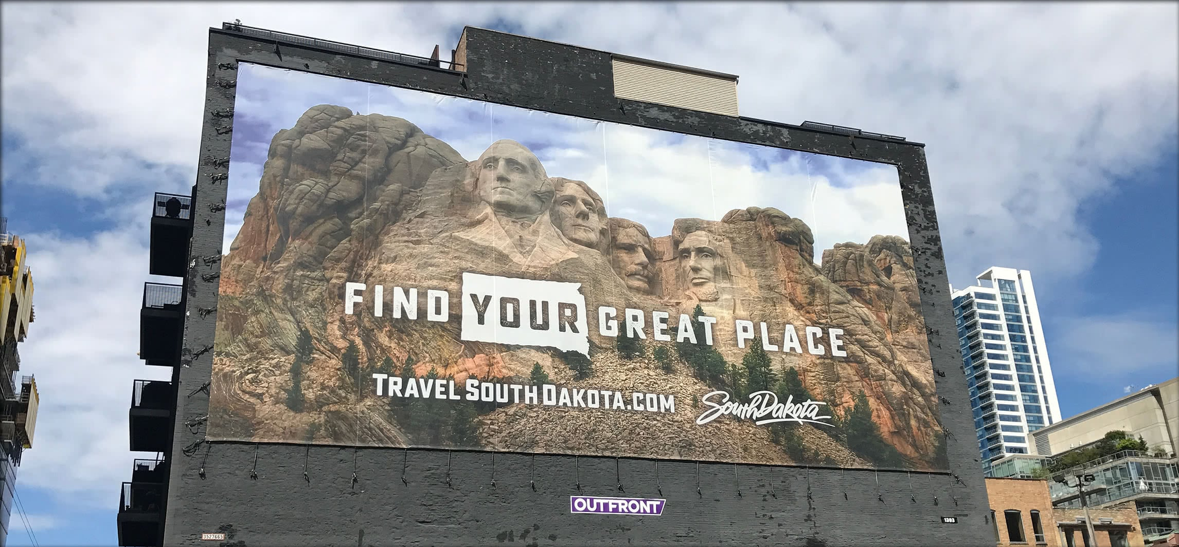 Travel South Dakota Building Sign